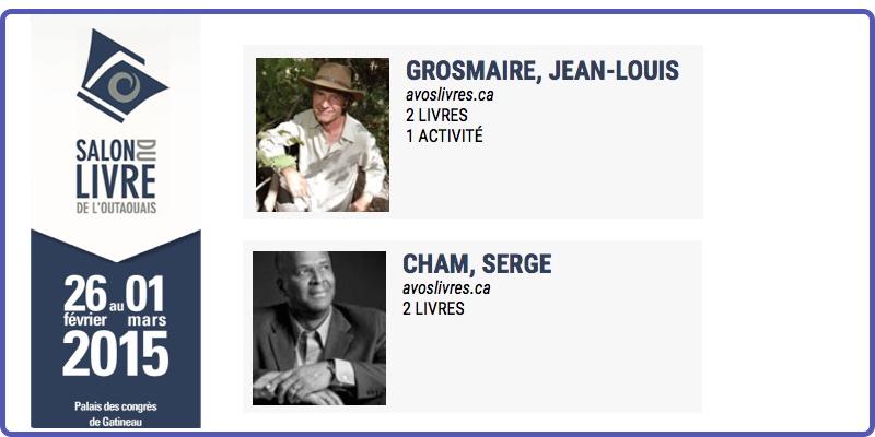 Jean-Louis Grosmaire et Serge Cham au SLO
