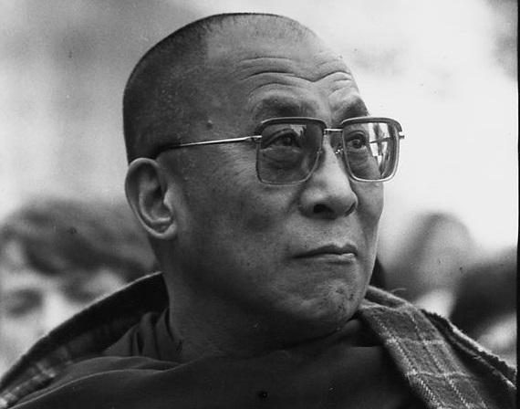 """Le Dalaï Lama, en 1990, par Mario Saint-Jean du """"Droit"""""""
