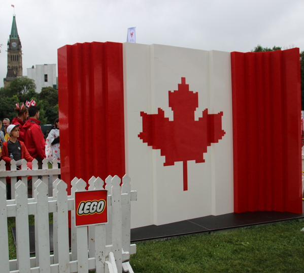 Drapeau du Canada en Lego