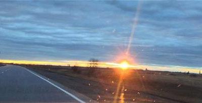 Un coucher de soleil prometteur… de printemps !